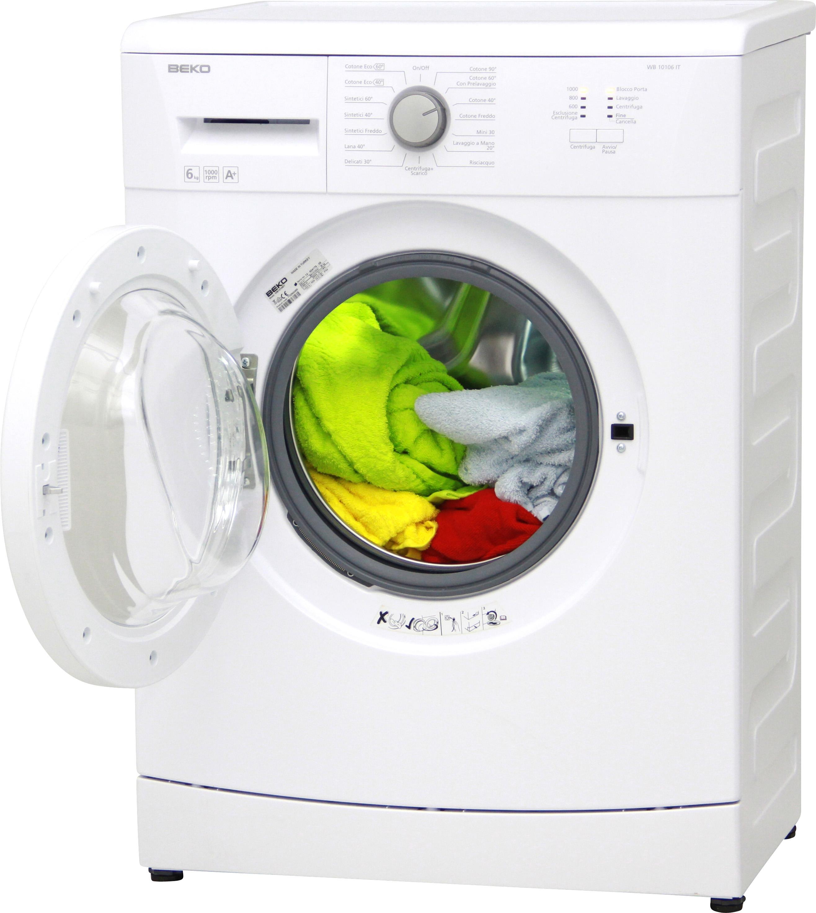 I dettagli del test sulla lavatrice BEKO WB10106IT