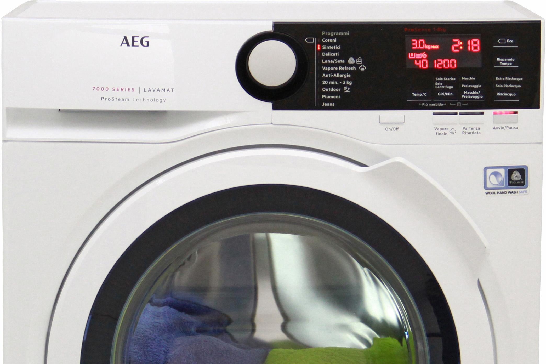 I dettagli del test sulla lavatrice AEG L7FBE841