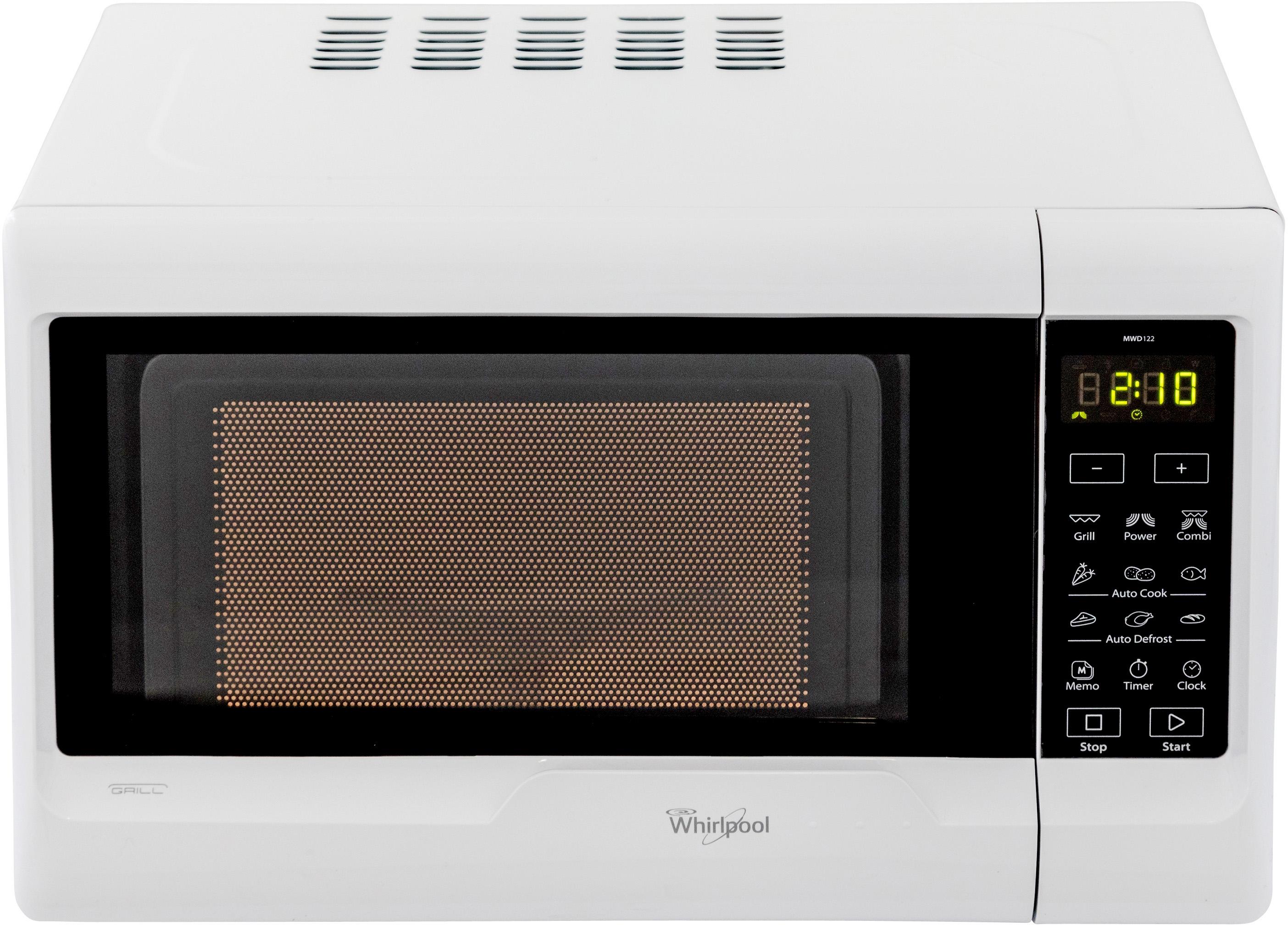 I dettagli del test sul forno a microonde WHIRLPOOL MWD 122 SL