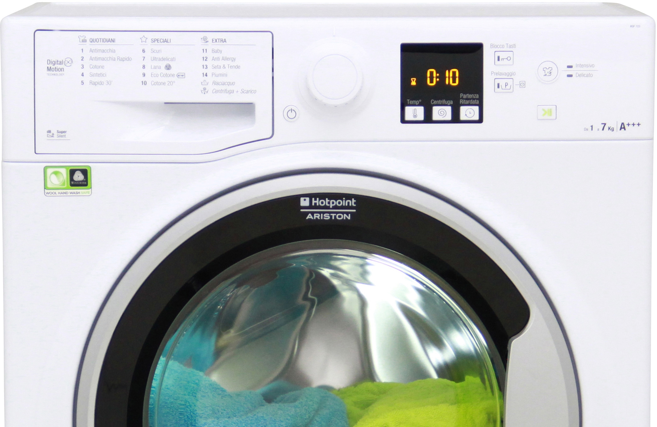 I dettagli del test sulla lavatrice HOTPOINT-ARISTON RSF723S