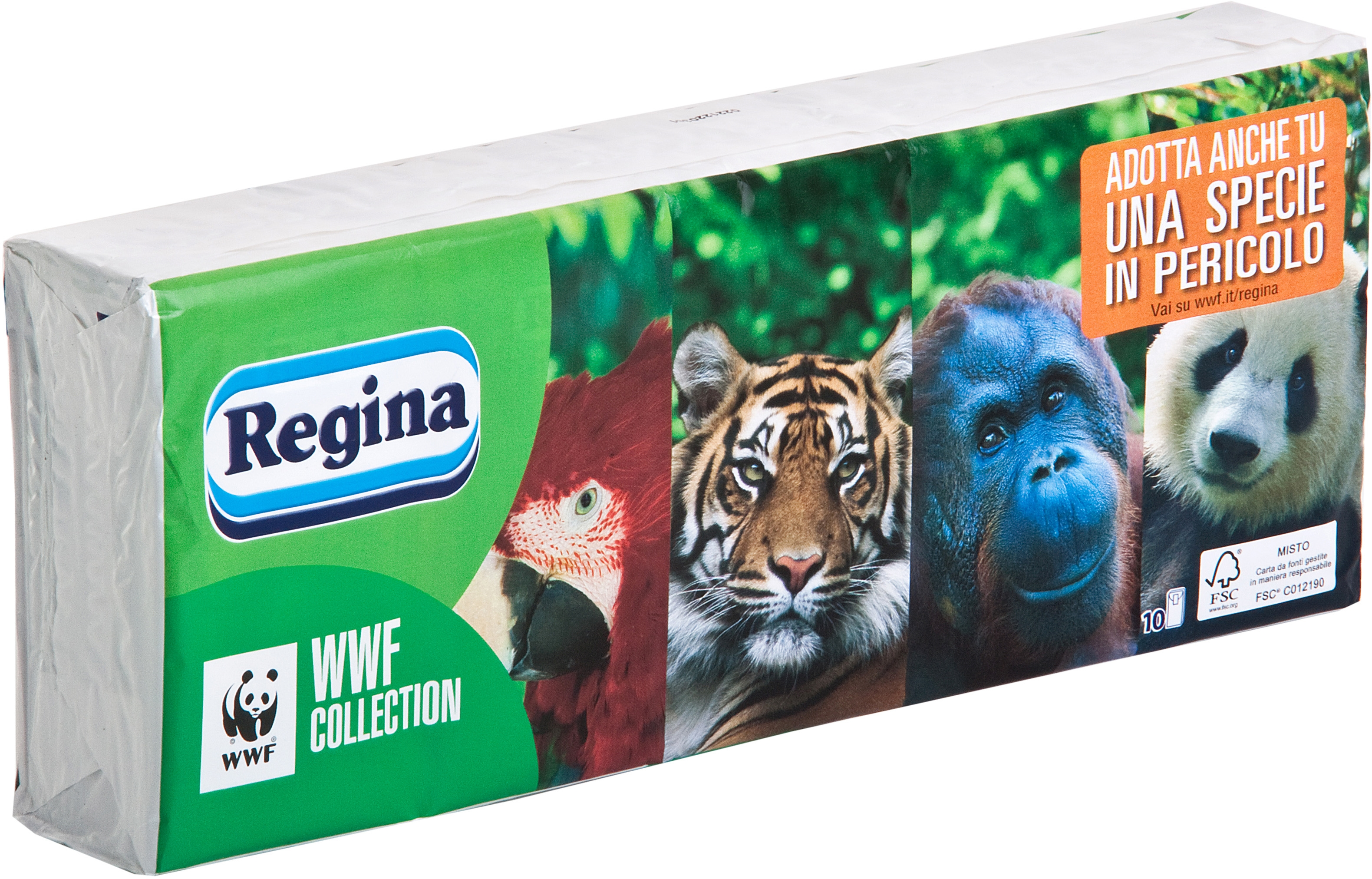 design professionale moda tecnologia avanzata REGINA fazzoletti di carta ecologici