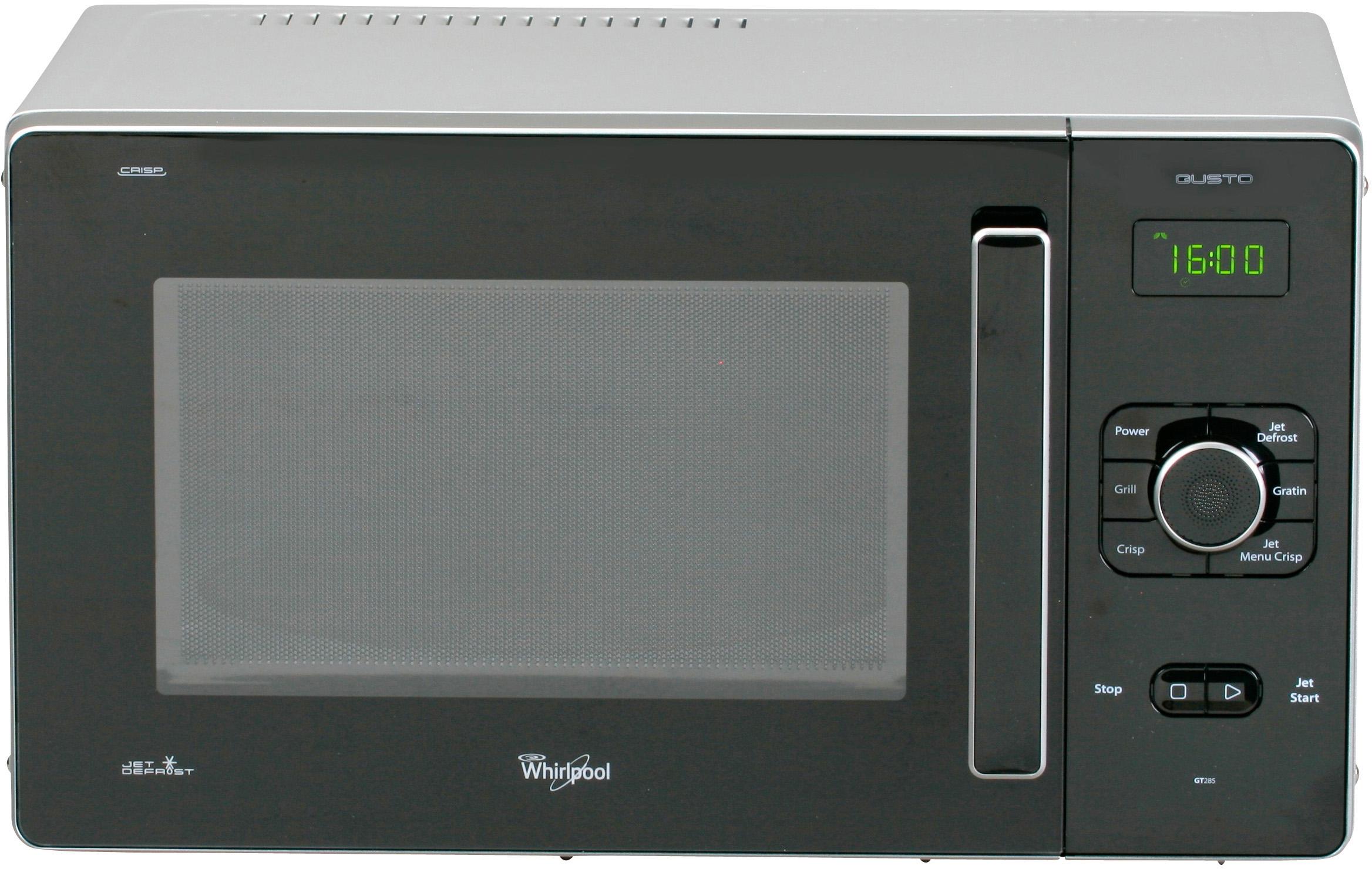 I dettagli del test sul forno a microonde WHIRLPOOL GT 285 SL