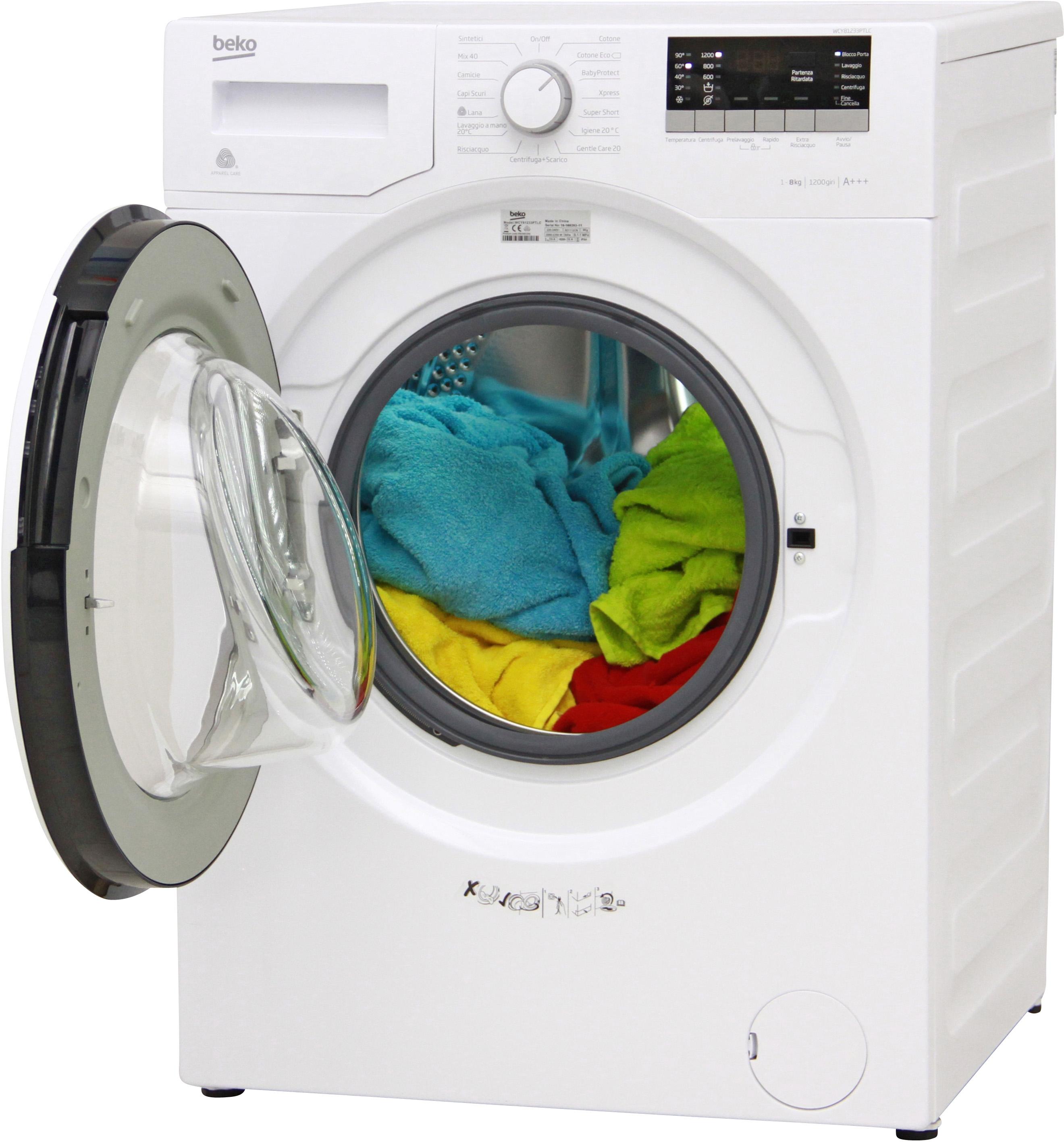 I dettagli del test sulla lavatrice BEKO WCY81233PTLC